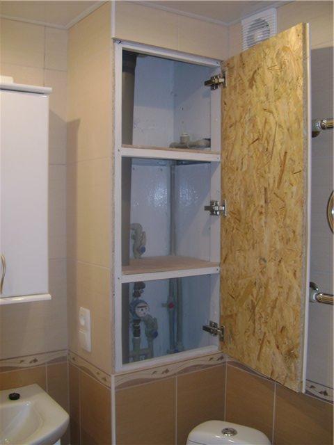 Как сделать шкаф в ванную 768