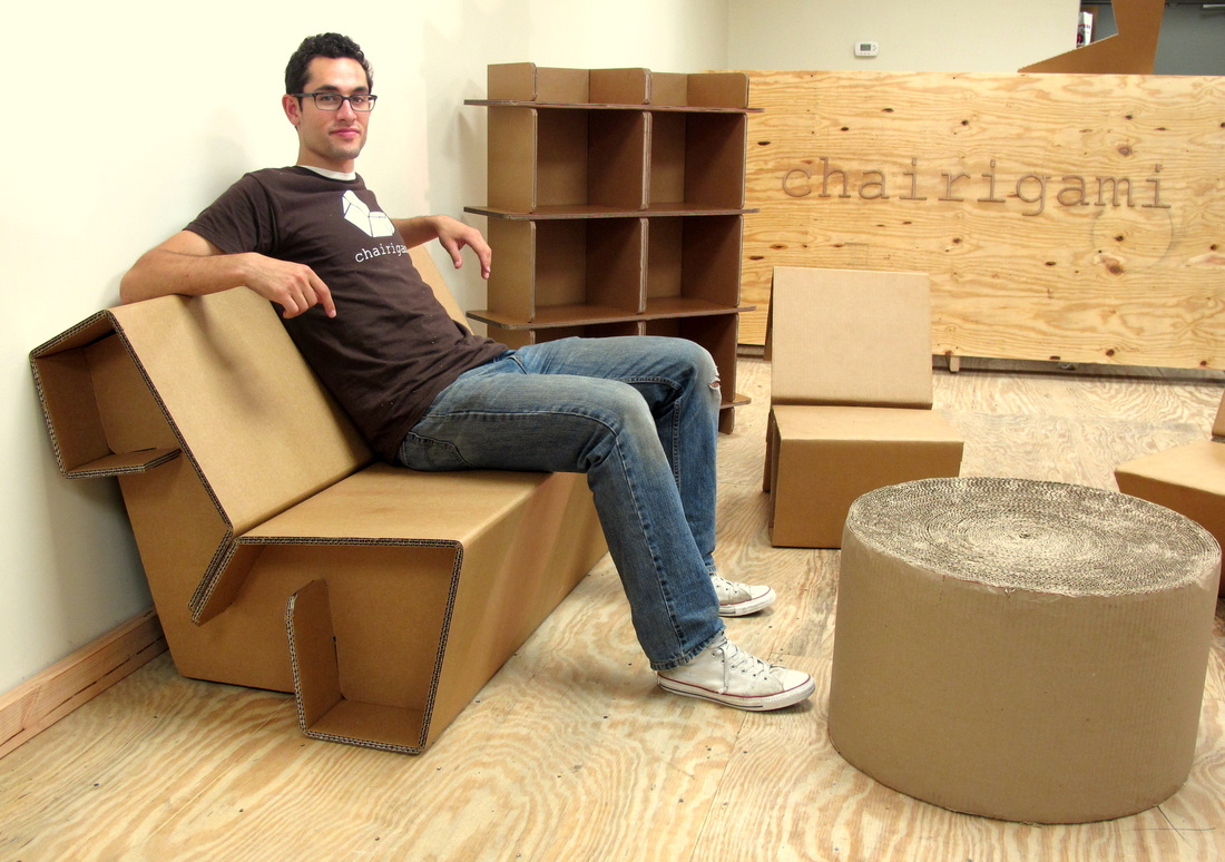 Мебели из картона сделанной своими руками.