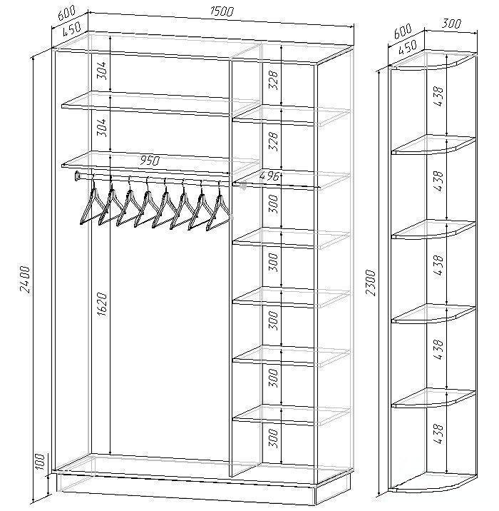 Шкаф для прихожей своими руками чертежи