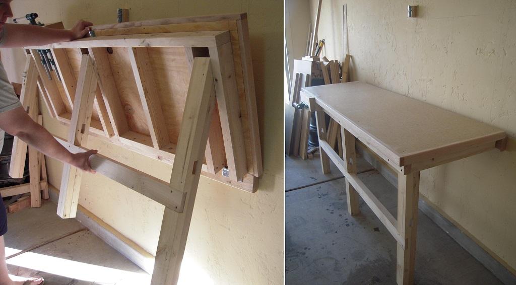 Складной стол своими руками (44 фото): как сделать самостоят.