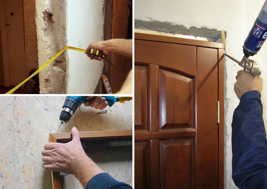 Как установить коробку межкомнатной двери своими руками