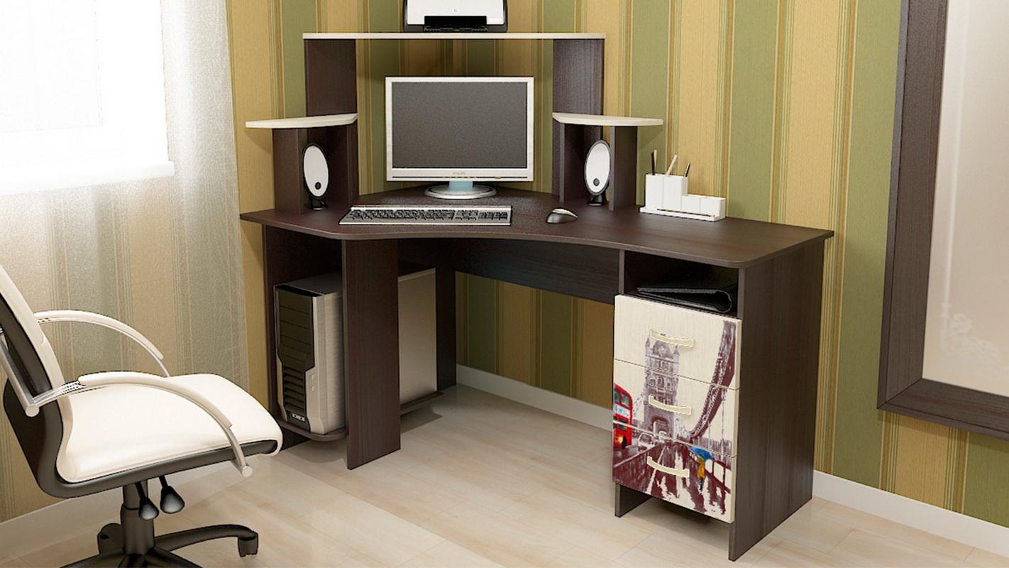 Компьютерные столы маленького размера (51 фото): компактный .