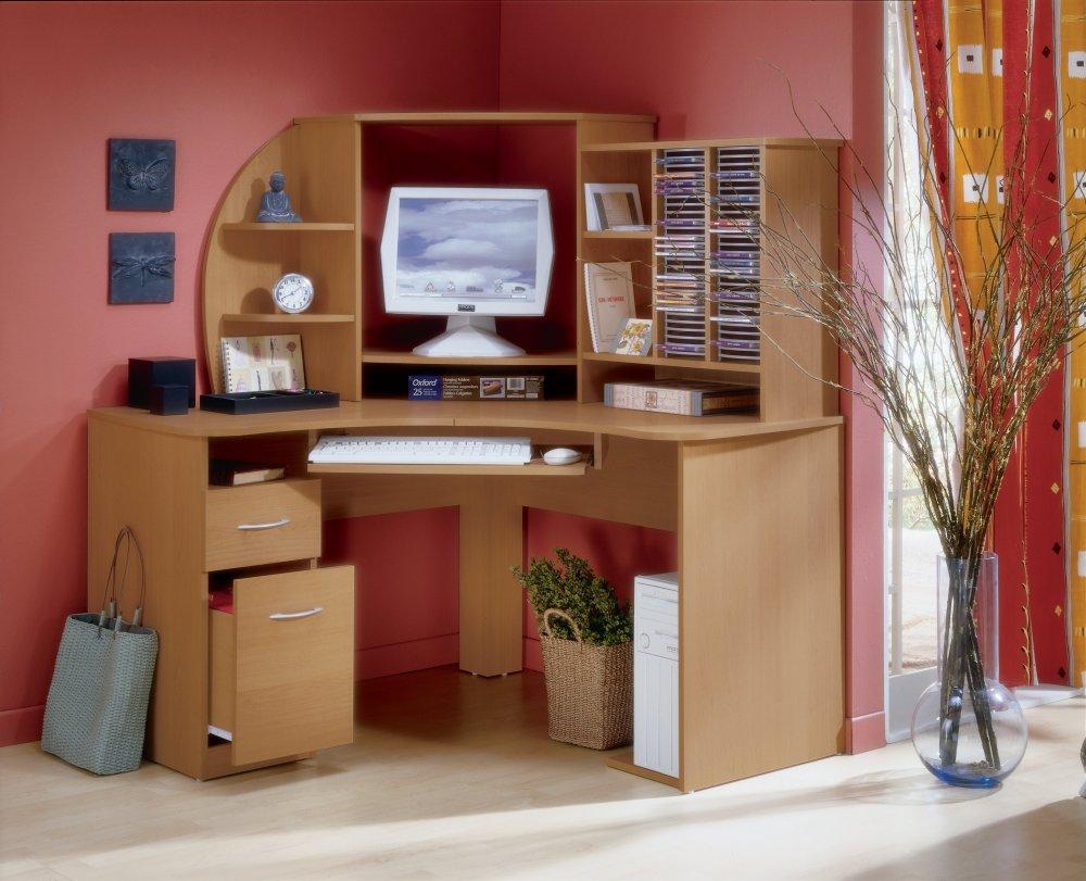 компьютерные угловые столы с полками и ящиками 33 фото маленький