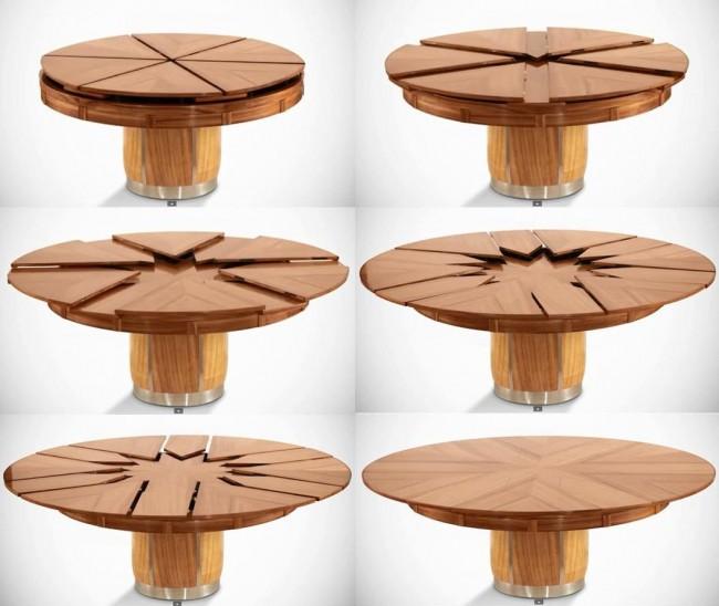 круглые раскладные столы складные и раздвижные модели трансформеры