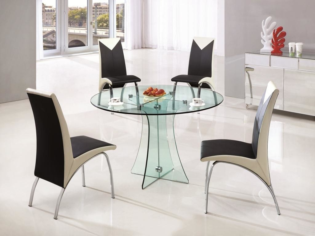 Дизайнерский стеклянный кухонный стол