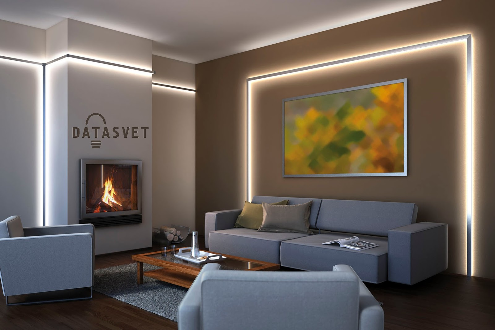 Гипсокартонный потолок с подсветкой Decor 4 House 228