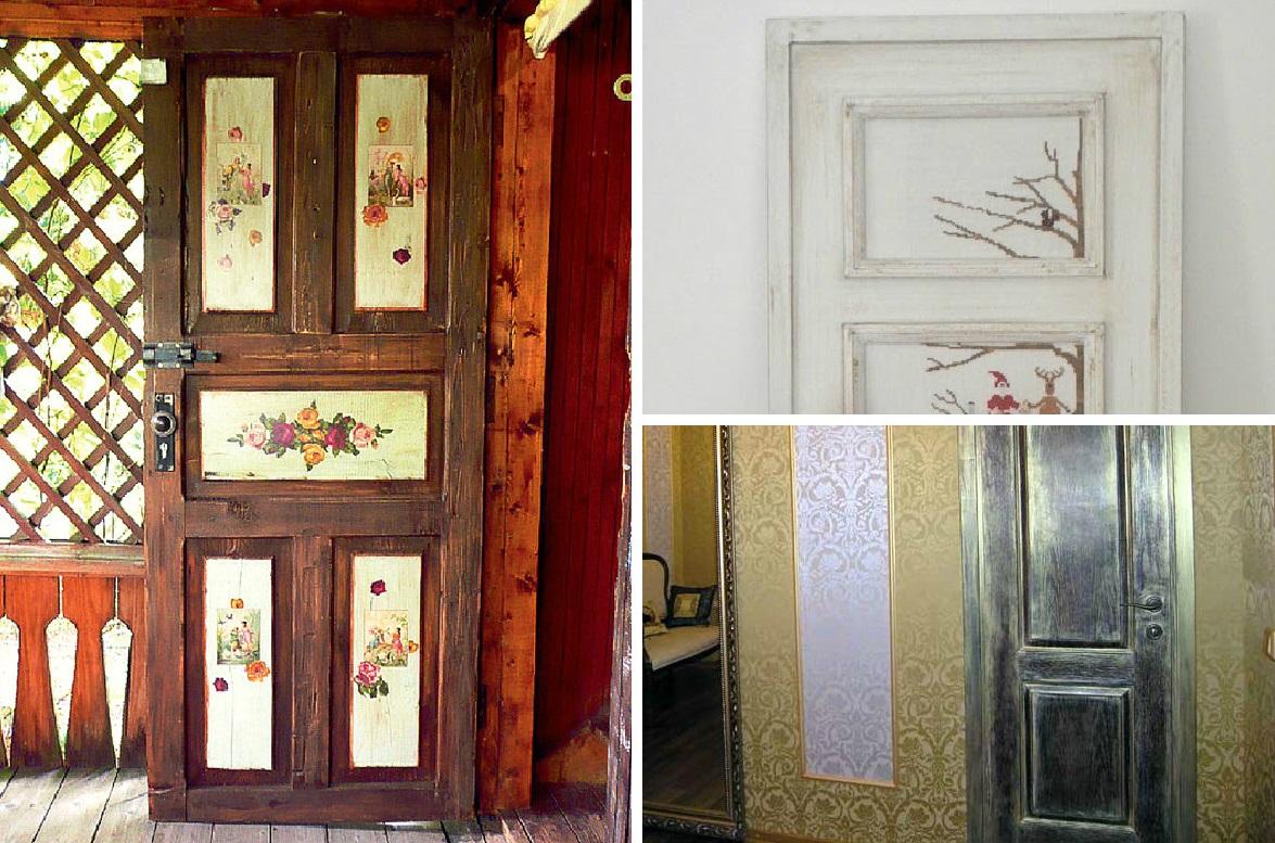 Декор на дверях при реставрации