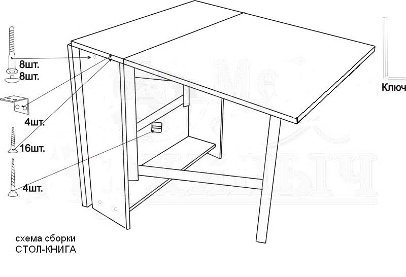 Кухонный стол-тумба своими руками чертежи и схемы сборки 71