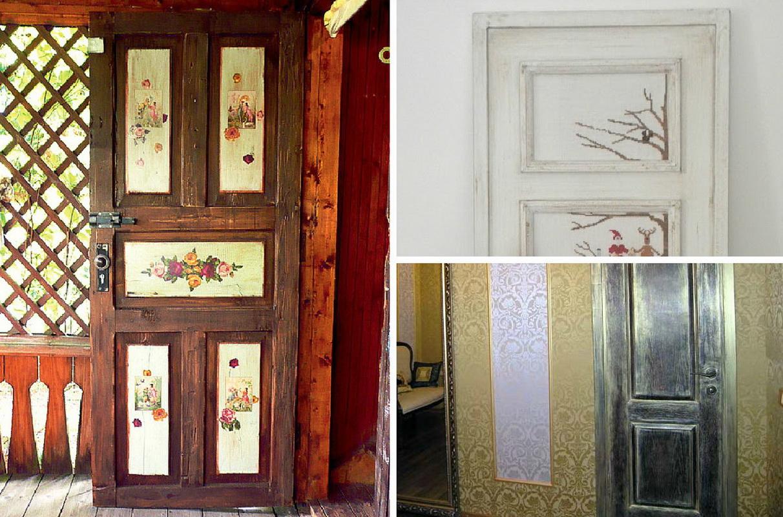 Как украсит дверь своими руками 375
