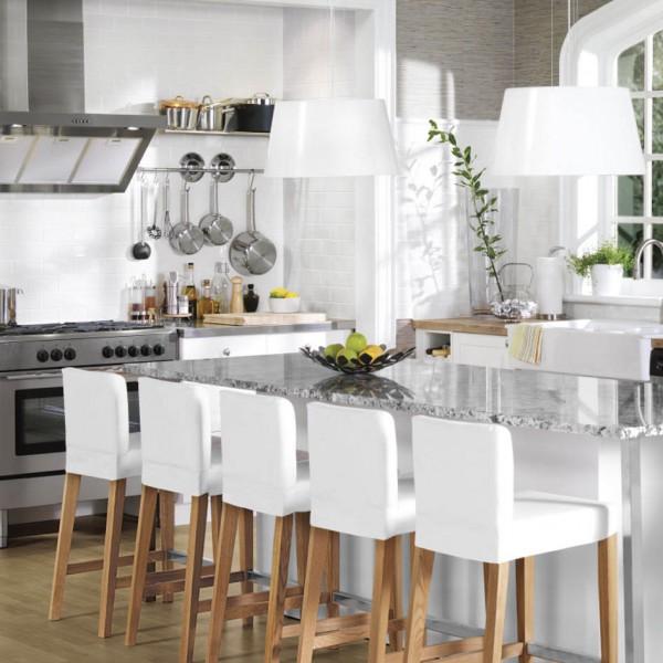 стулья для кухни Ikea складные деревянные белые кухонные модели со