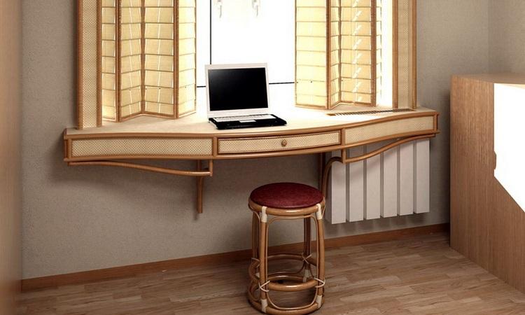 Стол-подоконник (47 фото): в комнате подростка вдоль окна, в.