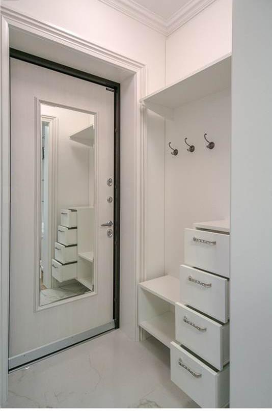 Входные двери с зеркалом (33 фото): металлические железные м.