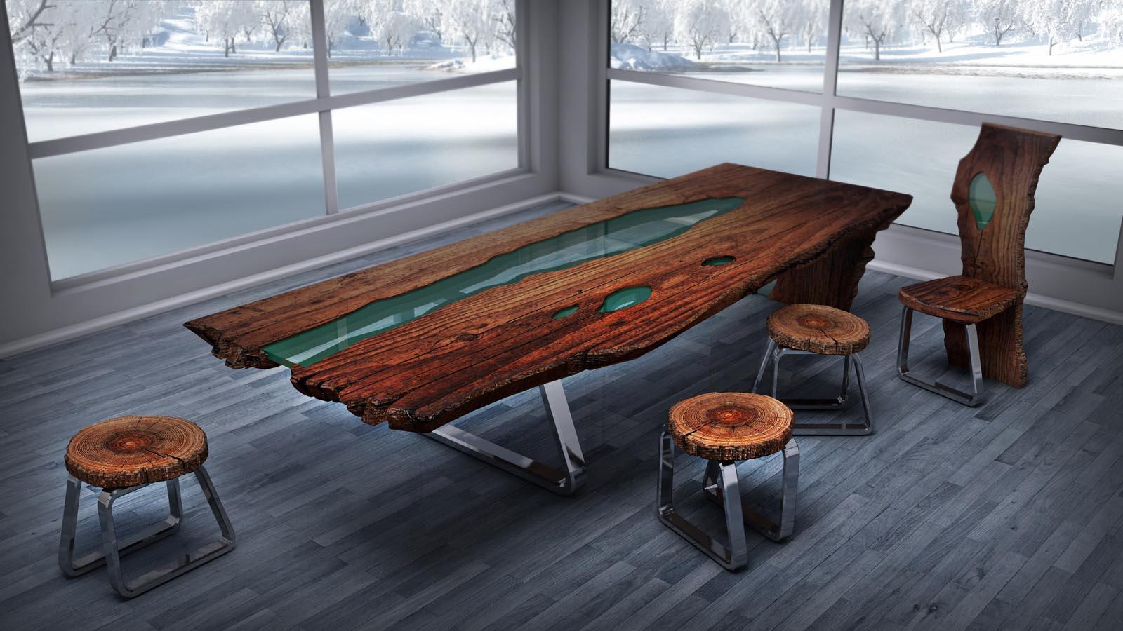 Деревянный стол в стиле лофт своими руками 90