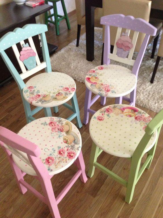 Декупаж стульев для начинающих пошагово 32