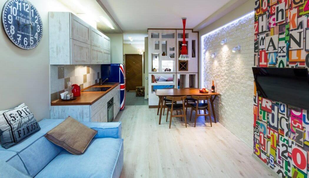 дизайн однокомнатной квартиры 30 квм фото в современном стиле 5
