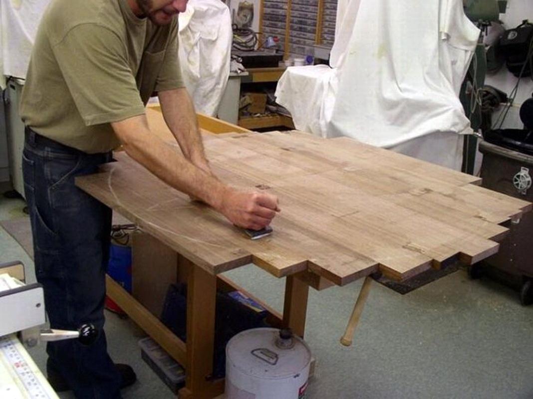 Изготовление из дерева столов своими руками 833