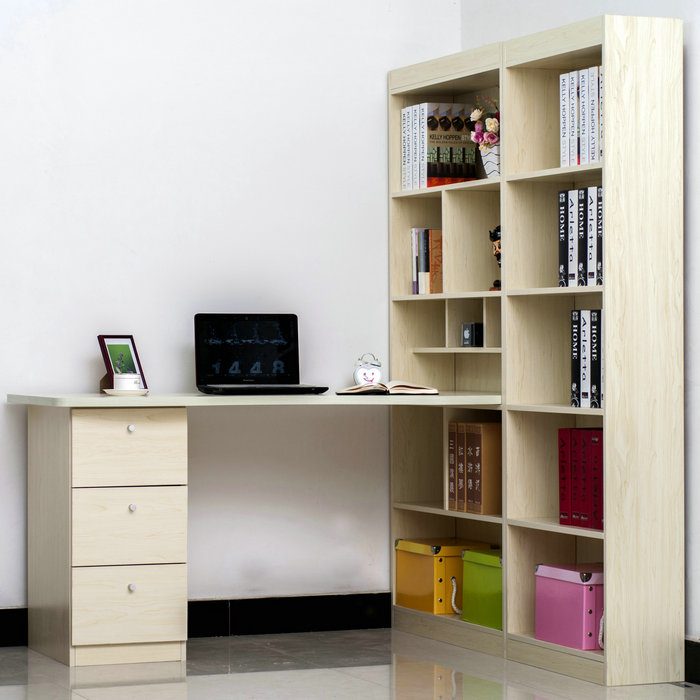 Компьютерный стол со стеллажом (19 фото): мебель для компьют.