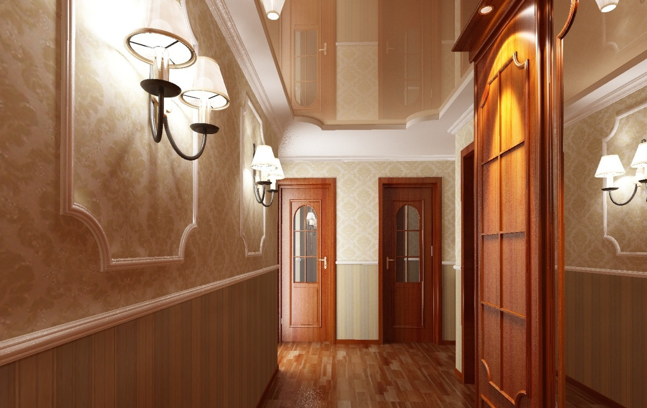 Идеи для потолка в коридоре своими руками