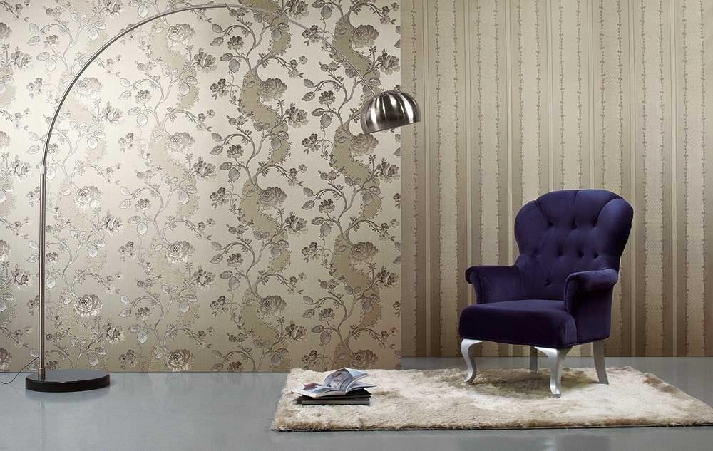 Обои с шелкографией 47 фото что это такое особенности выбора - плюсы и минусы идеи для стен в интерьере можно ли красить такое покрытие