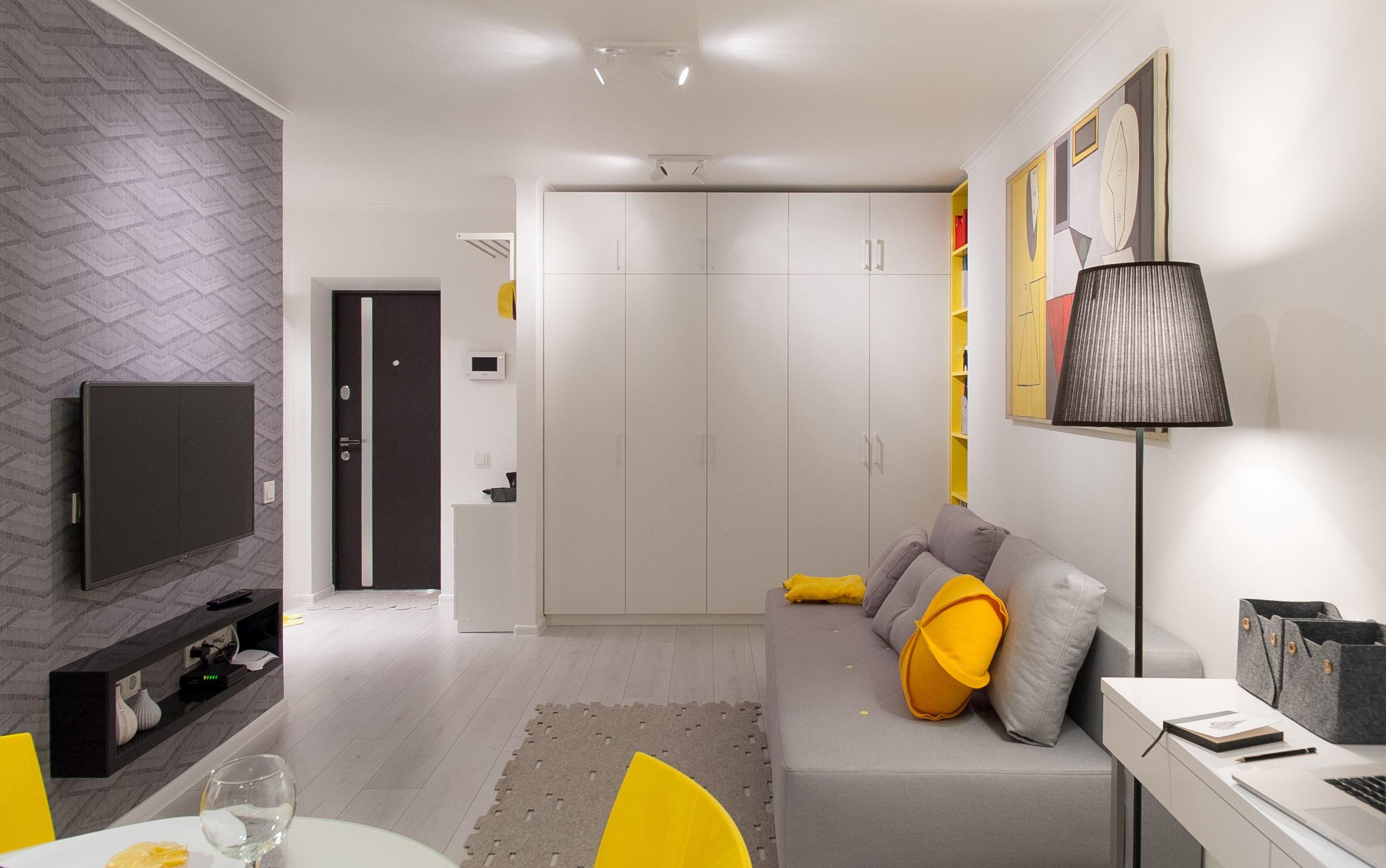 Проект дизайн 1 комнатной хрущевки