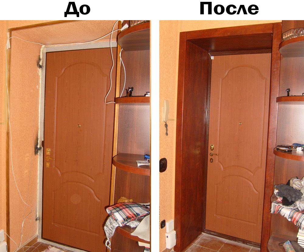 Отделка дверных откосов своими руками фото 164