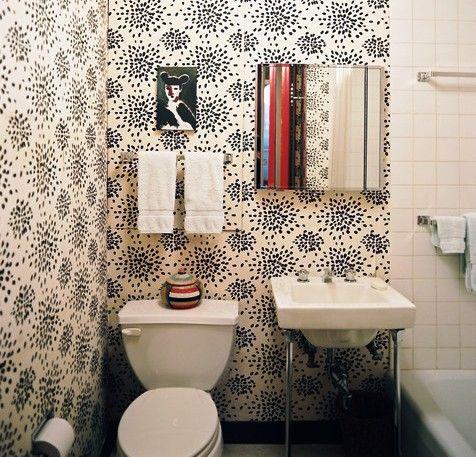 отделка туалета фото обоями фото