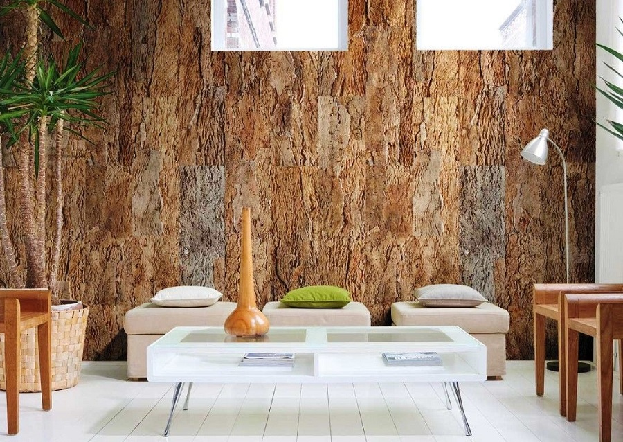 отделка стен разными материалами