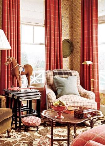Сочетание цветов в одном стиле обоев и штор в интерьере: советы и ... | 469x339
