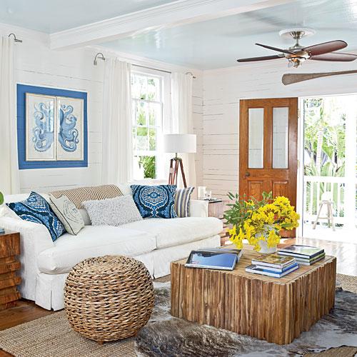 20 Wonderful Turquoise Coastal Living Room Design Ideas