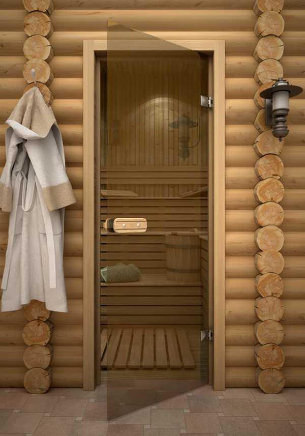Стеклянная дверь в парную - Строим баню или сауну