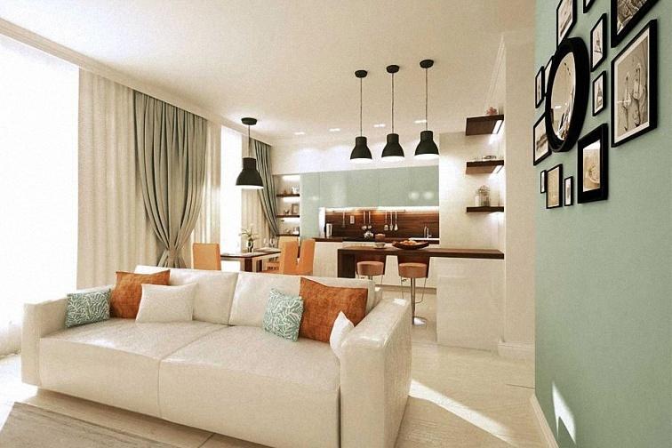 дизайн двухкомнатной квартиры 50 кв.м фото