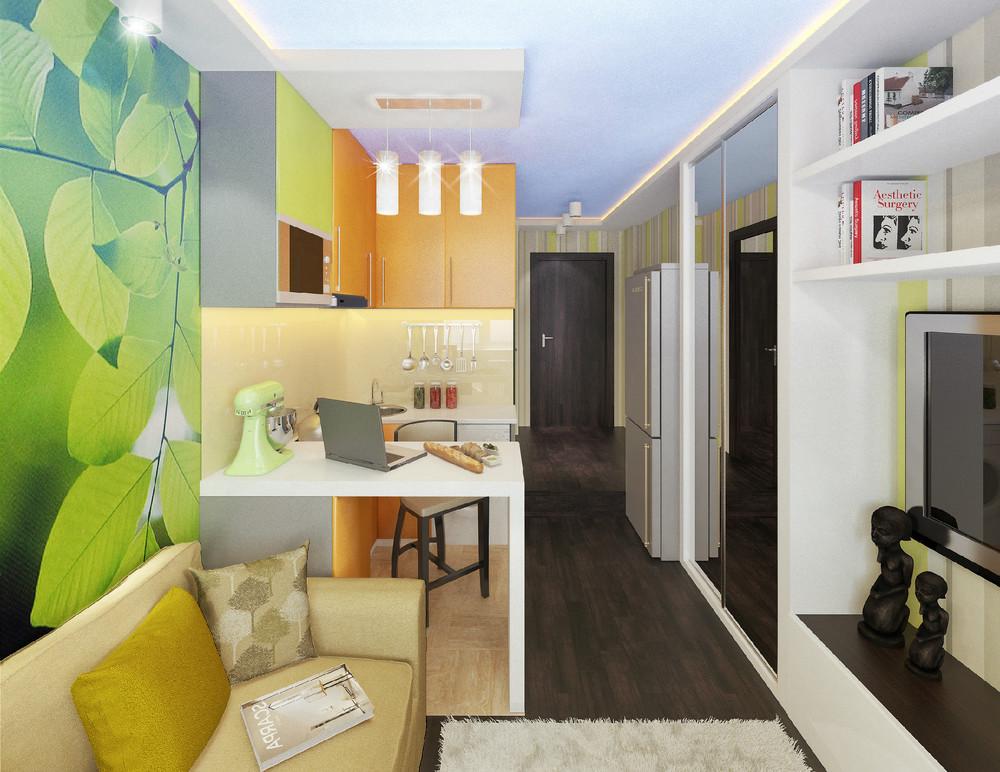дизайн комнаты 18 кв м 64 фото интерьер прямоугольной