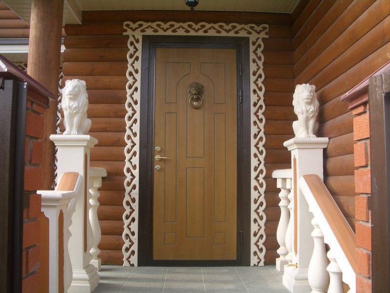 Как установить металлическую дверь в деревянном доме 8