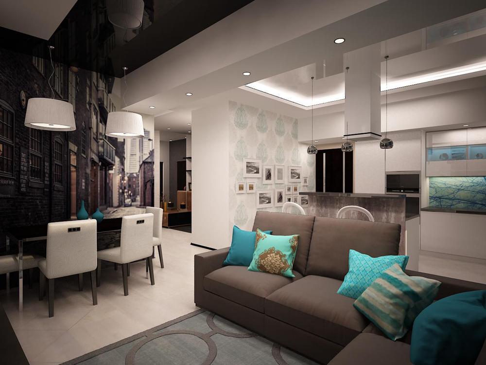 Дизайн квартиры в четырех комнатной 71