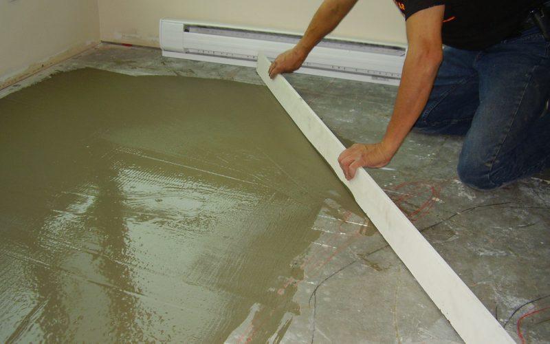 Заливка полов песчано цементным раствором бетон купить нахабино