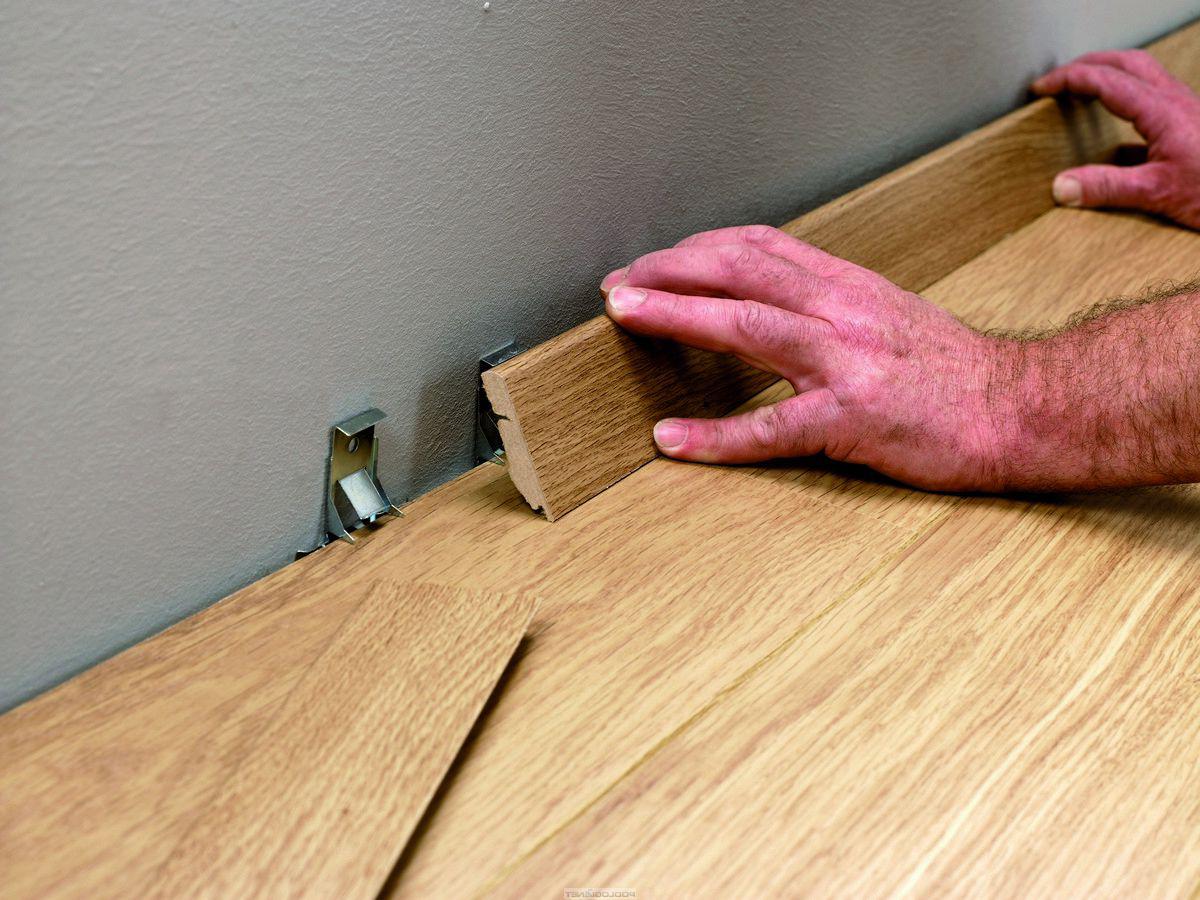 Плинтус напольный деревянный установка своими руками