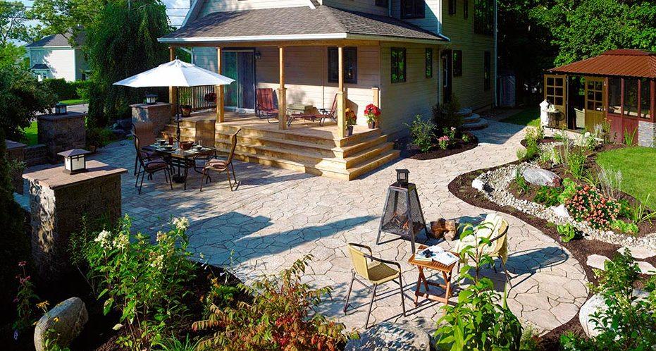 простой ландшафтный дизайн двора частного дома своими руками фото 3