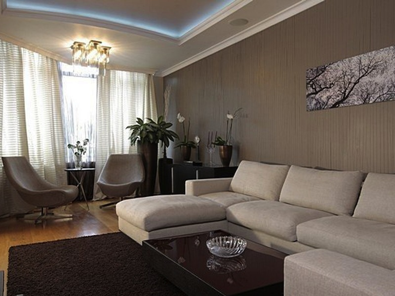 дизайн зала 17 квм в квартире фото реальные 3
