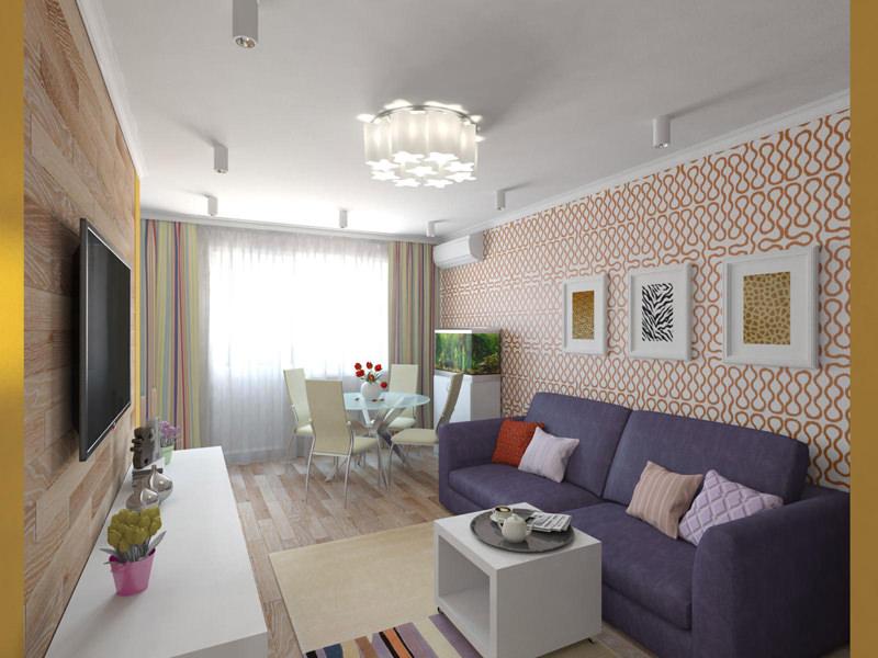Дизайн интерьера в 1 хрущевке 147