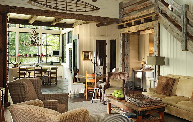 Дизайн интерьера гостиной в загородном доме своими руками