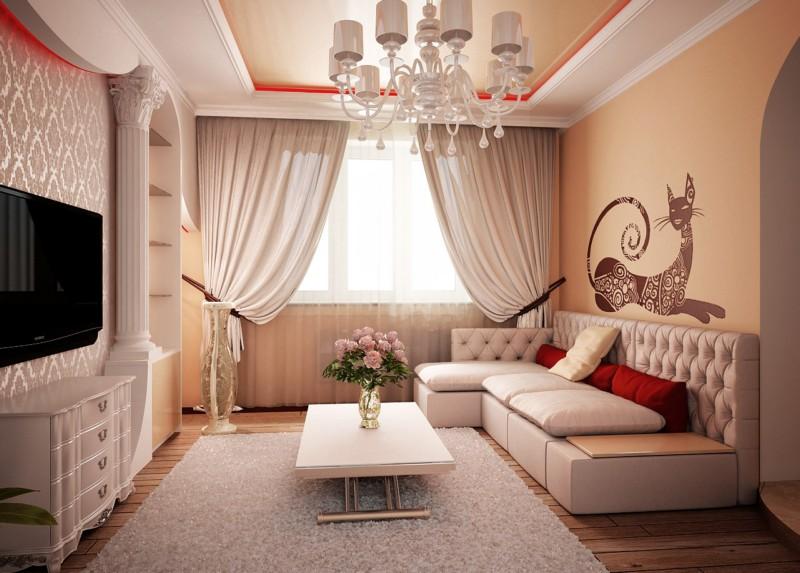 дизайн небольшой гостиной 2