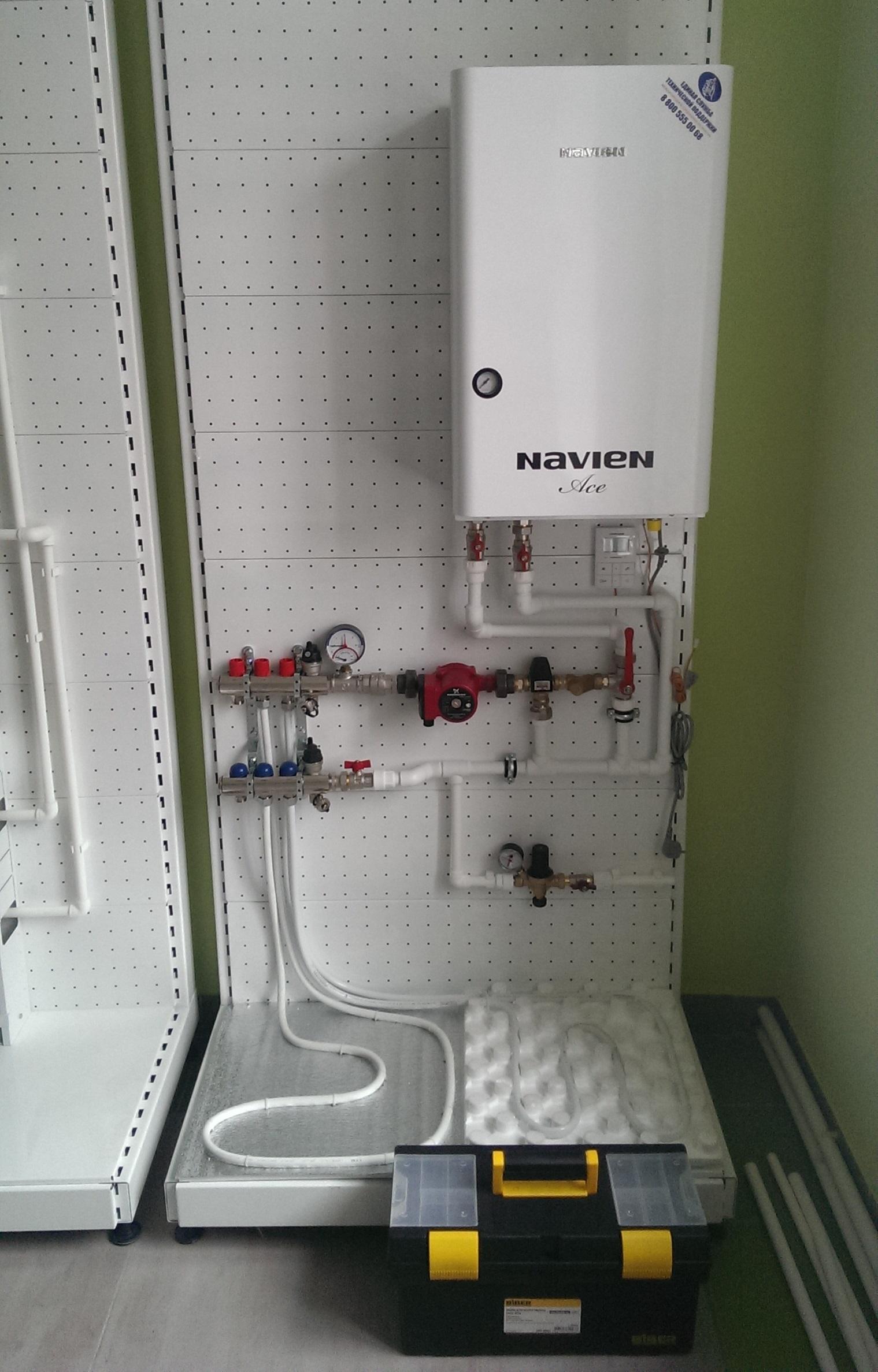 Тёплый пол от газового котла своими руками 602