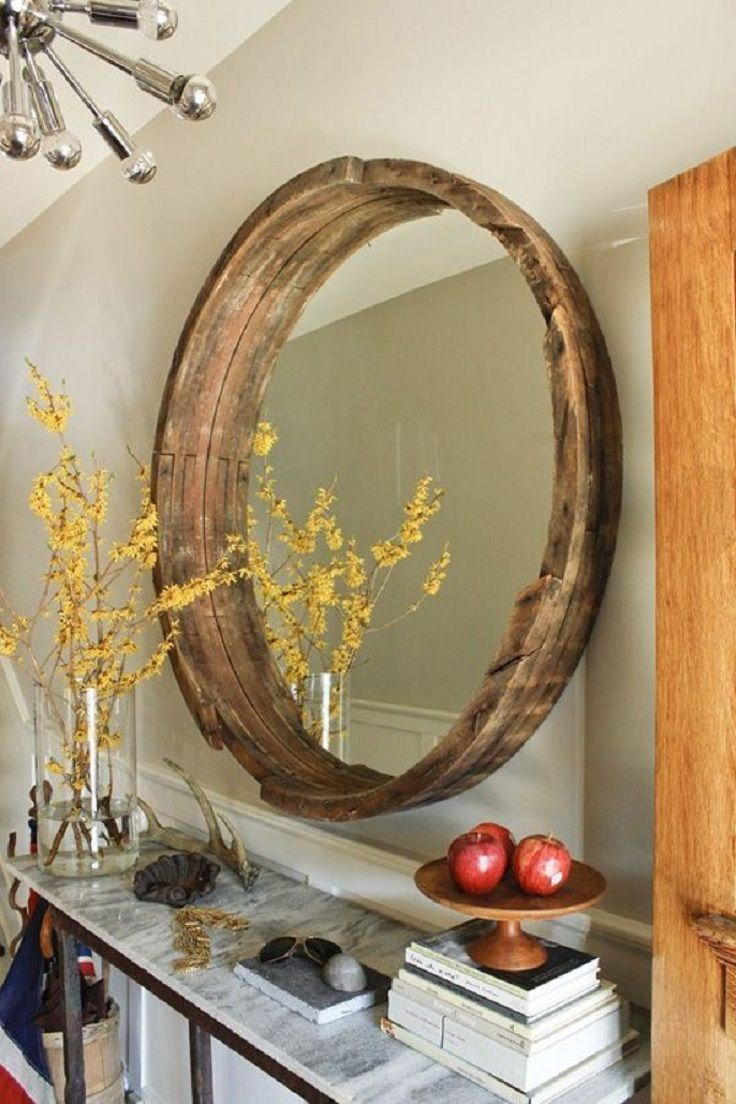 Рамка для зеркало из потолочного плинтуса своими руками 88