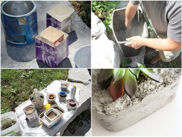 Изготовление вазонов из бетона своими руками 46