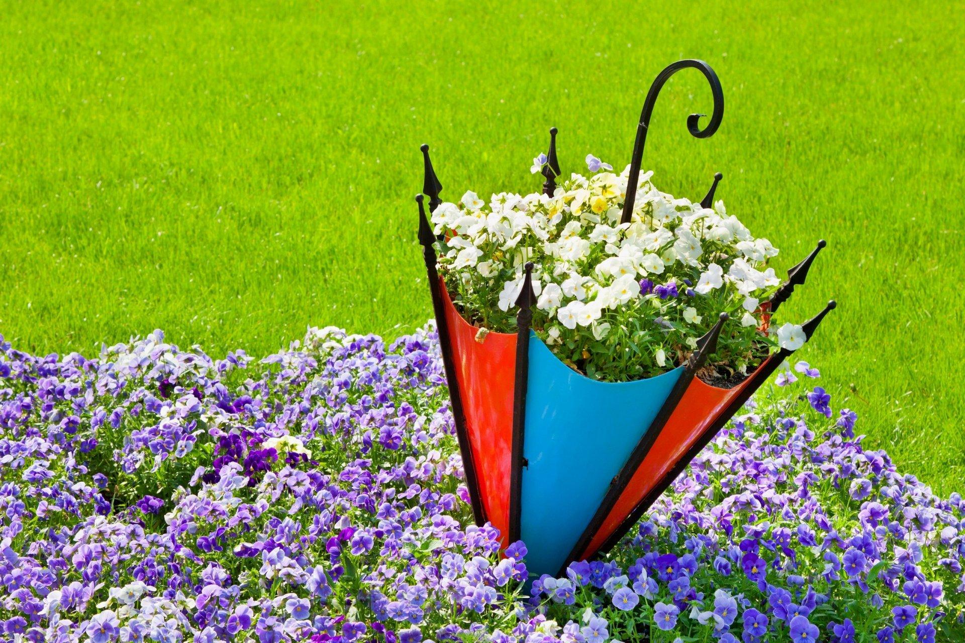 Клумбы и цветники своими руками из подручных средств возле дома фото