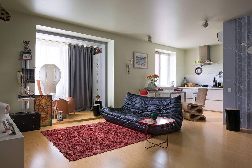 Оформление комнаты в однокомнатной квартире