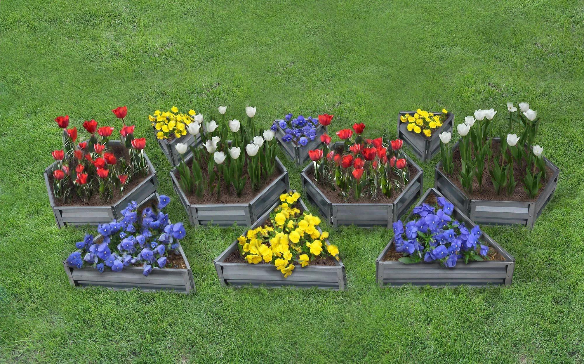 Фото как сделать цветочную клумбу