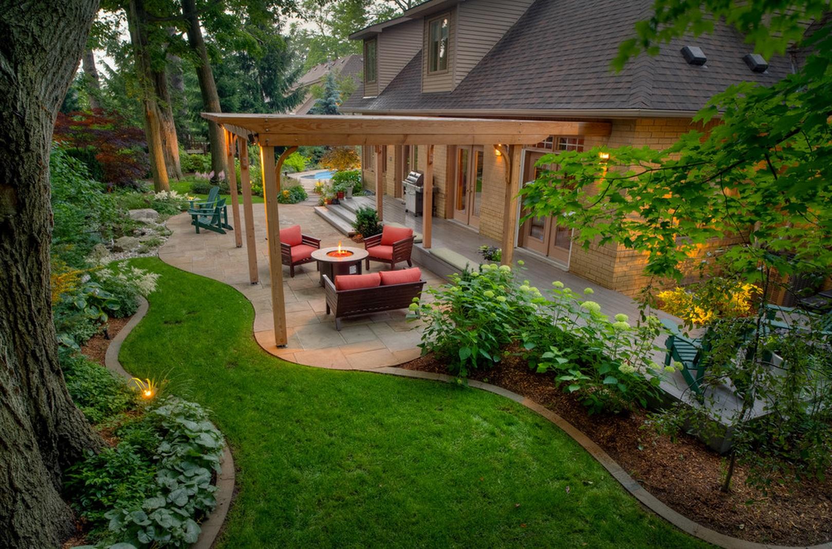 Ландшафтный дизайн загородного участка 10 соток
