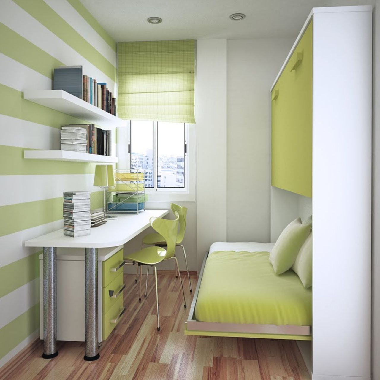 Интерьер маленькой комнаты для двух детей