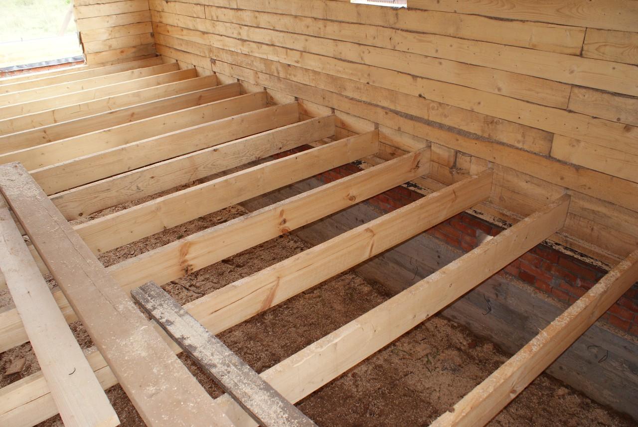 Как сделать пол в деревянном доме с деревянными перекрытиями